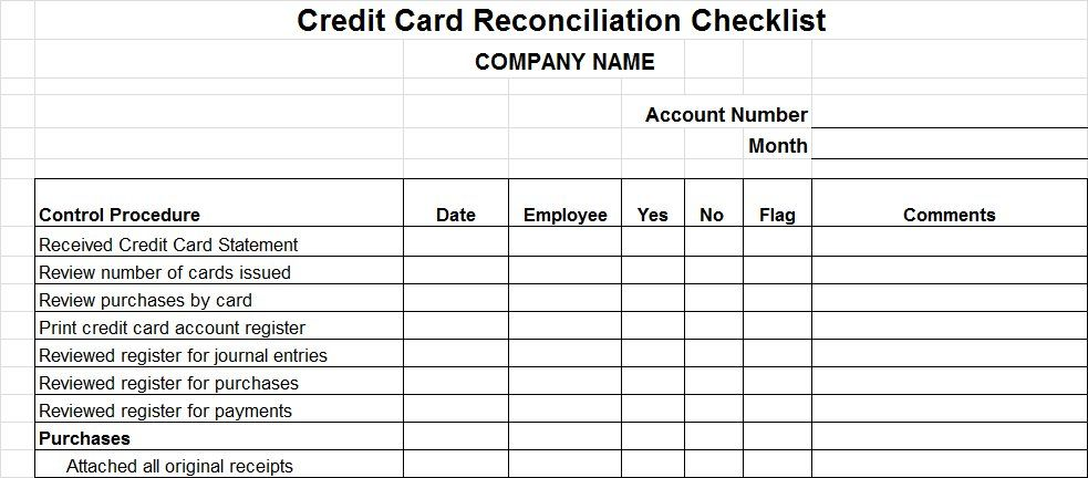 Credit Card Reconciliation Spreadsheet Check More At Https Onlyagame Info Credit Card Reconciliation Spreadsheet