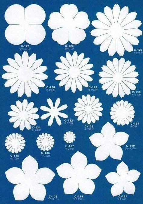 Imprimir moldes para hacer flores en foami. Related Post 8 Patrones ...