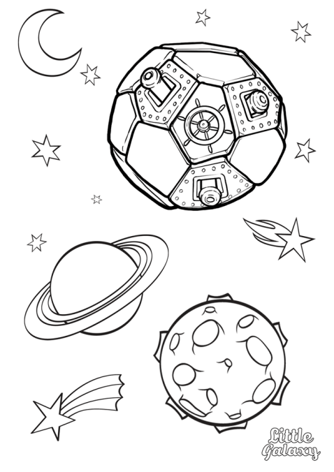 Space Colouring Pages from Little Galaxy | Space coloring ...