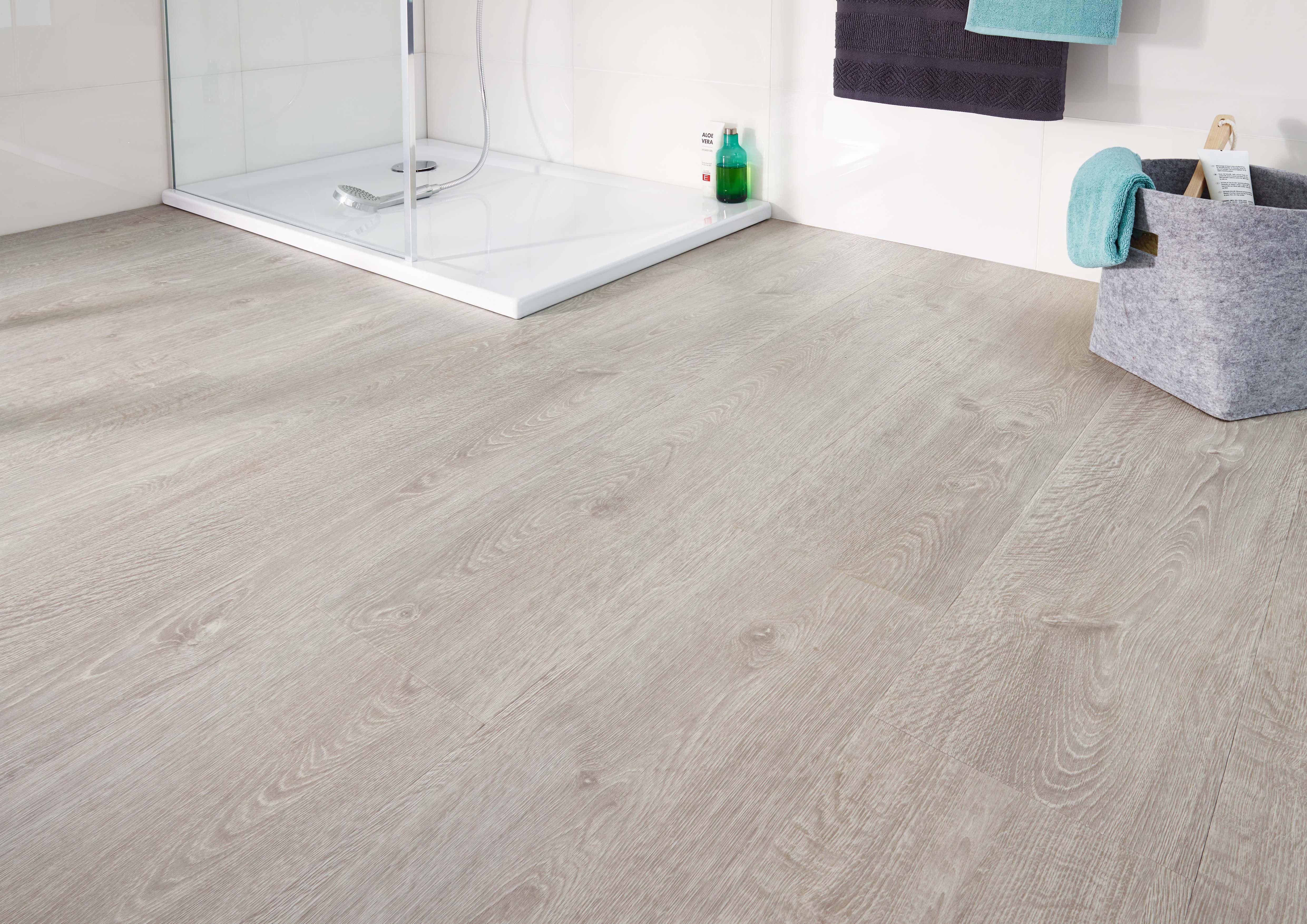 Bathroom floor with design floor lvt luxury vinyl tiles by jab