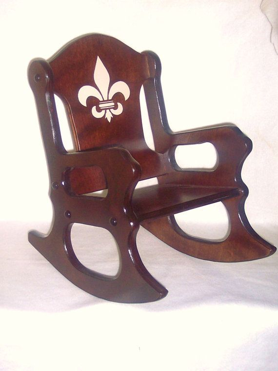 Wooden Kids Rocking Chair Fleur De Lis Rocking Chair Toddler