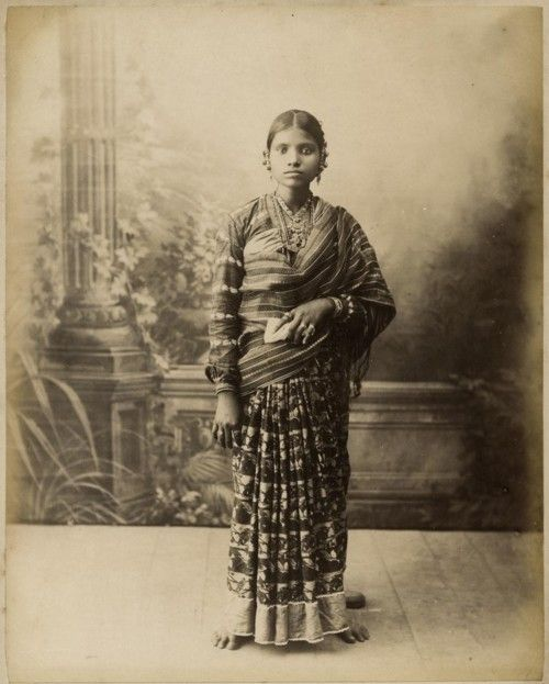 Young serving maid in goa india ca 1880 old photo xix for Dress dizain photo