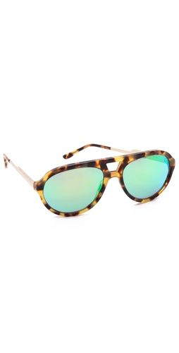 0de970069bb03 Stella McCartney Mirrored Aviator Sunglasses Sapatos