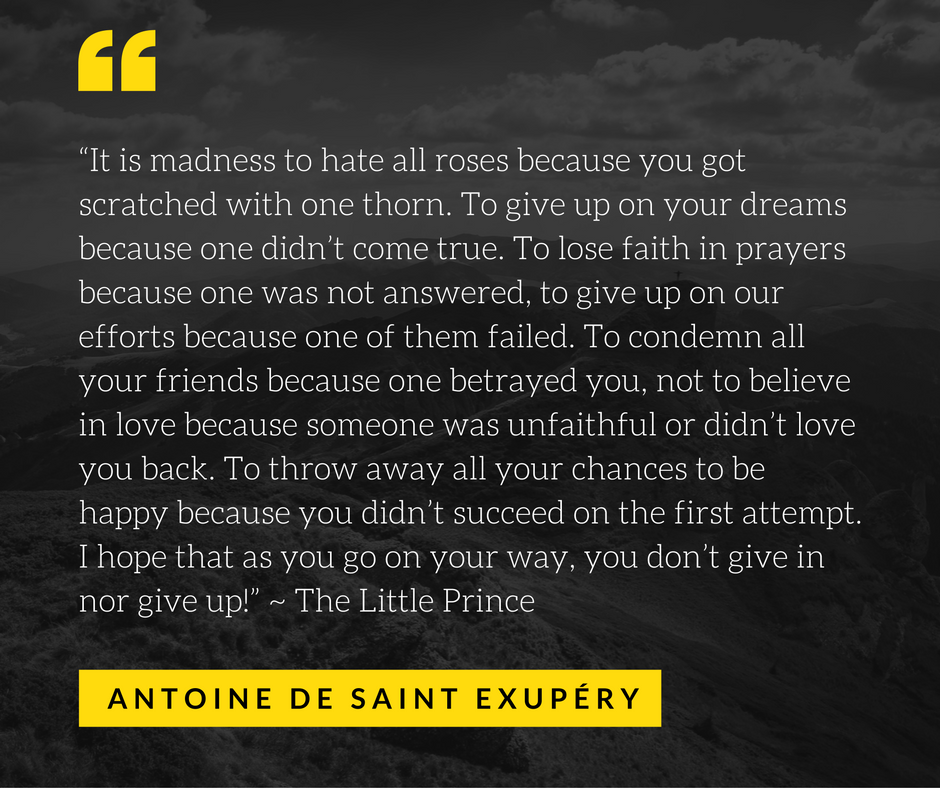 The Little Prince Quote It Is Madness To Hate All Roses Because You