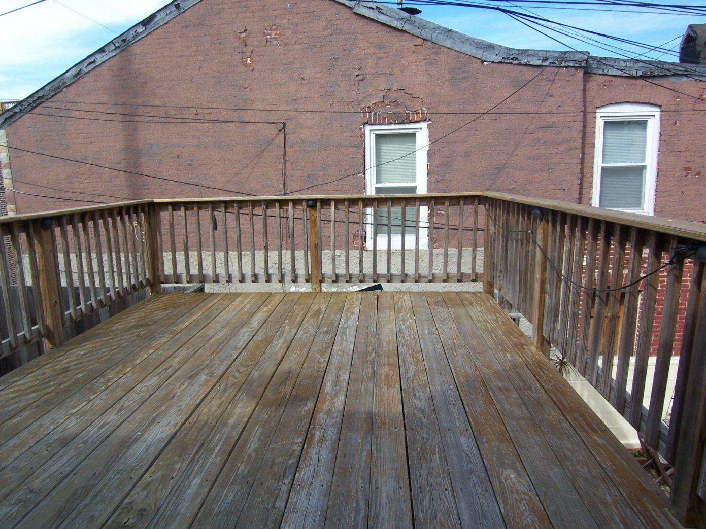 Deck from 2nd floor mobile house pinterest for Second floor deck