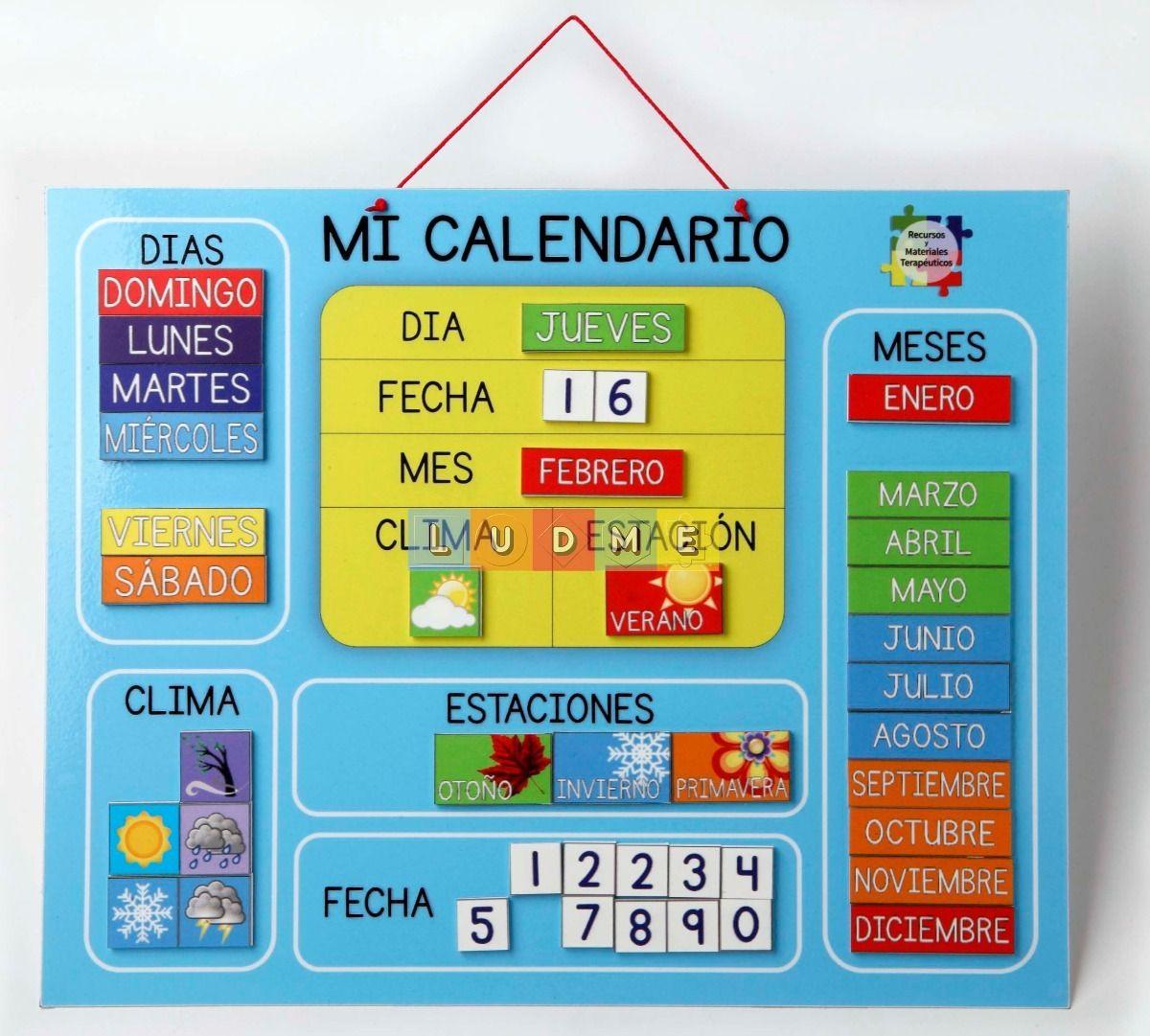 Calendario Calendario Para Niños Asamblea Educacion Infantil Actividades De Aprendizaje
