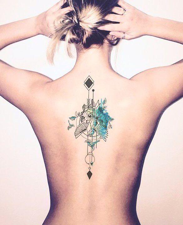 Tatuajes Para Mujeres Un Nuevo Accesorio De Moda: 15 Diseños De Tatuajes Para Espina Dorsal Que Te Van A