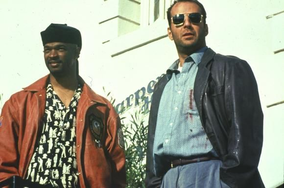 Jimmy Dix (Damon Wayans) and Joe Hallenbeck (Bruce Willis) from The Last Boy Scout