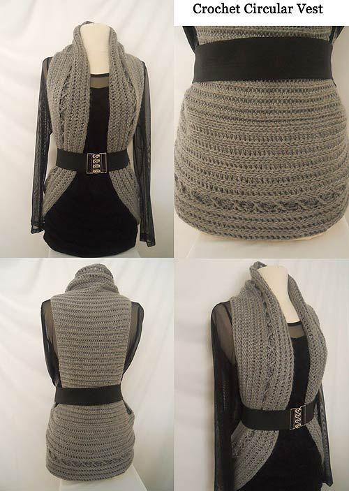 Crochet Circular Vest Downloadable Pattern | croché | Pinterest ...