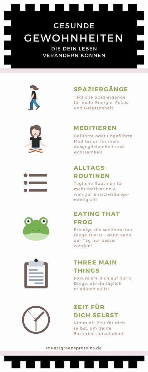 6 kleine Gewohnheiten, die mein Leben verändert haben - Squats, Greens & Proteins by Melanie #health