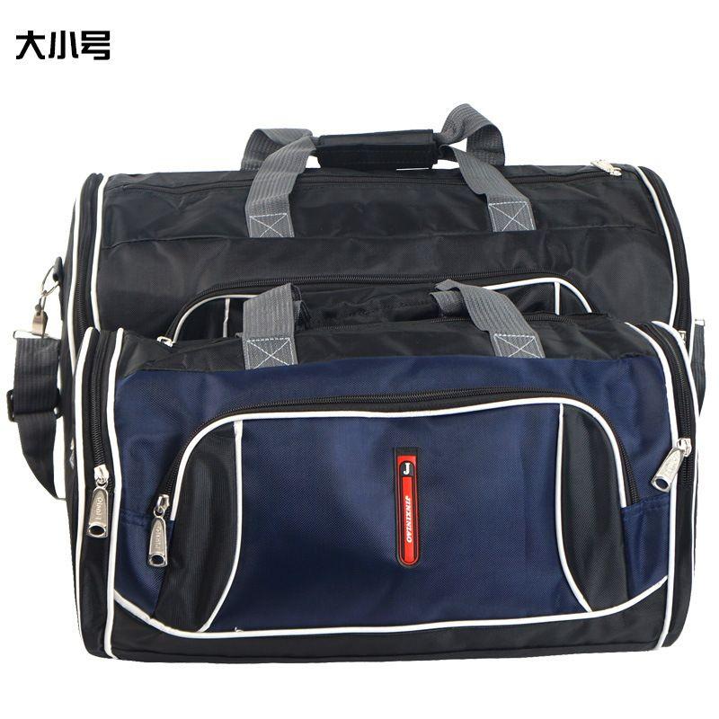 Unisex Black Luggage Travel Bag Branded Polyester Portable Long Crossbody  Bag Men Zipper Shoulder Bag Large 5a0f4b3997417