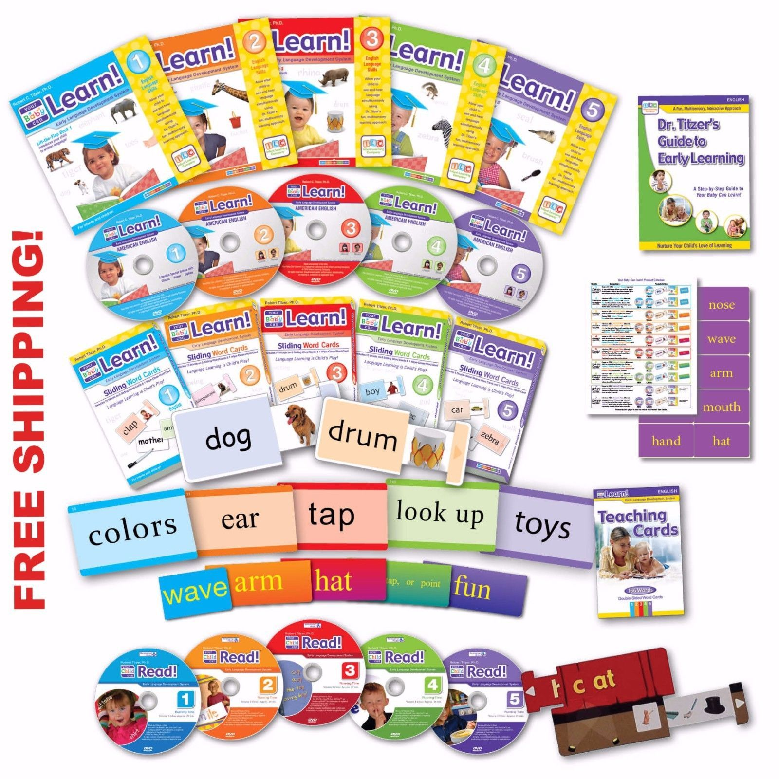 Your Baby Can Read Deluxe Kit NEW ENGLISH Reading System ...