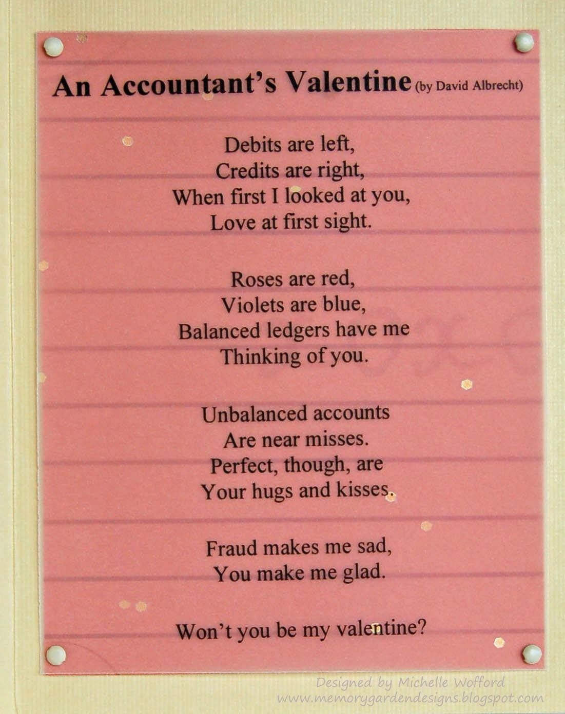 An accountant's Valentine #accountinghumour                                                                                                                                                                                 More