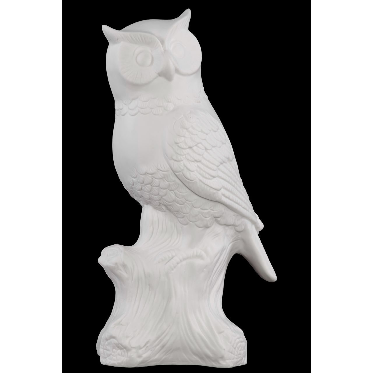 Urban Trends Collection Owl Figurine on a Tree Stump Matte Finish