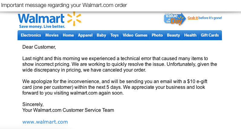 Free $10 Walmart eGift Cards | Walmart Glitch Update | Shopping ...