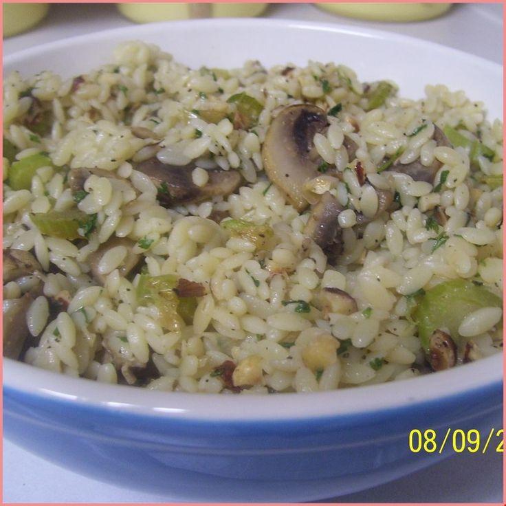 Hazelnut-Mushroom Pilaf - - -