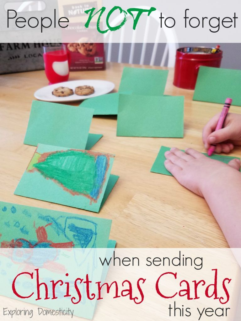 People NOT to forget when sending Christmas Cards! | Send christmas ...