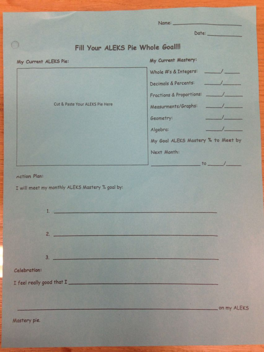 Aleks monthly goal worksheet self created have students help aleks monthly goal worksheet self created have students help select a reward if they meet their goal and use these goal sheets at conferences to show fandeluxe Images