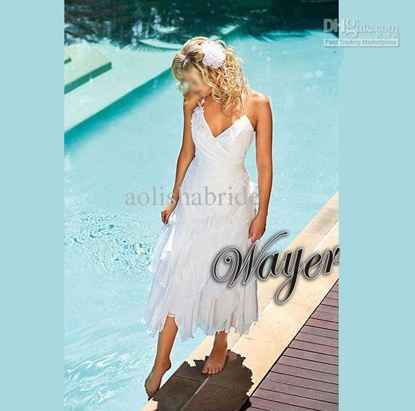 a7c94f9dc2 handkerchief wedding dress | ... Handkerchief Beach Wedding Dress  Destination Wedding Dresses Beach Bri