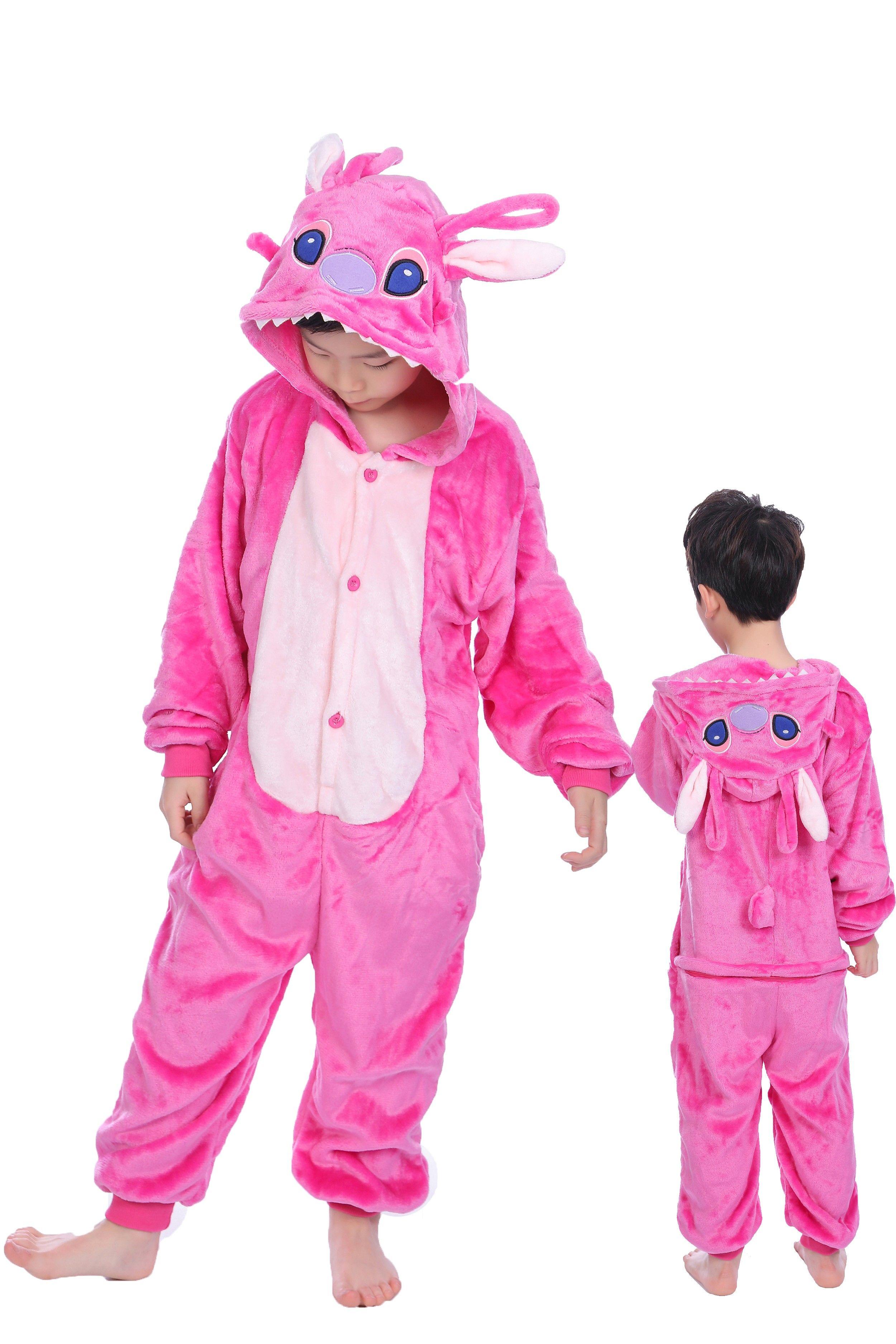 Kids Unicorn Kigurumi Animal Cosplay Costume Pajamas Sleepwear Halloween 3T
