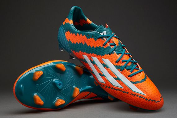 Mens Soccer Cleats - adidas Messi 10.1 FG - Firm Ground - Power Teal/White/Solar  Orange
