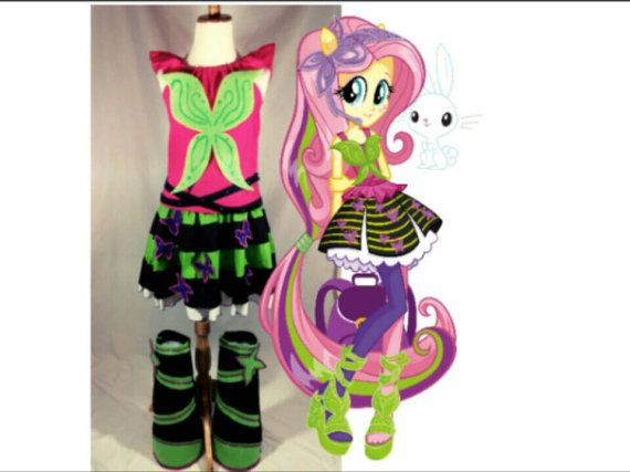 Fluttershy Rainbow Rocks https://www.etsy.com/listing/234215441/fluttershy-rainbow-rocks-under #fluttershy#rainbowrocks#costume #Brony#equestriagirls