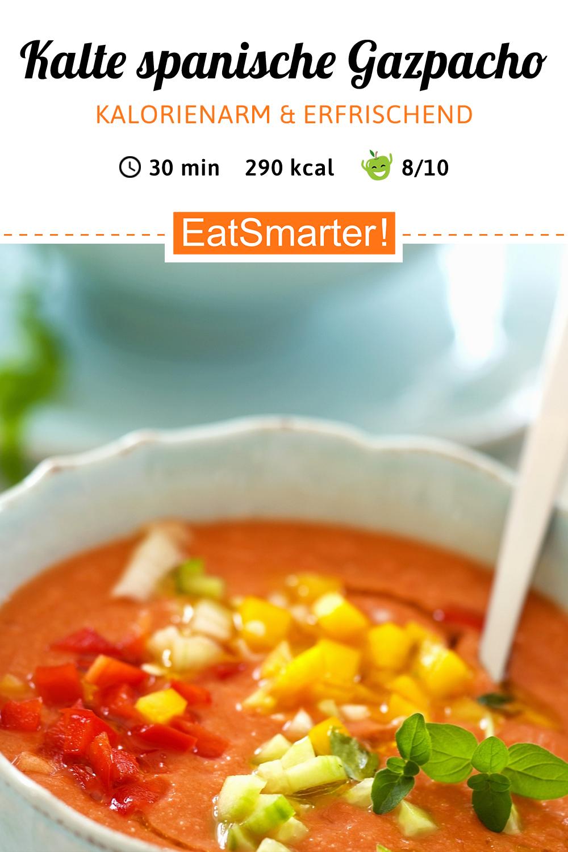 Kalte spanische Suppe (Gazpacho) #spanishmeals