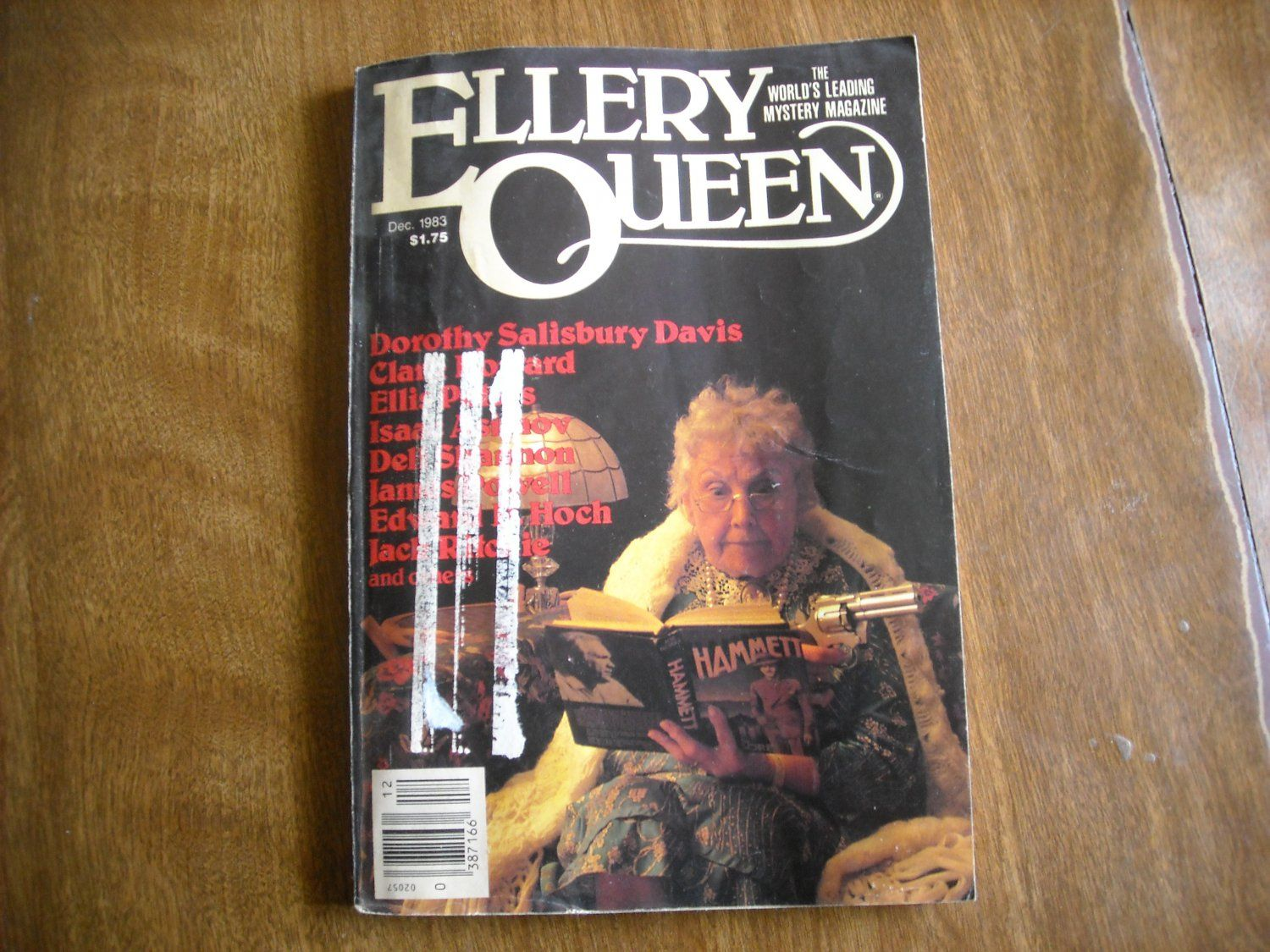 Ellery Queen Mystery Magazine- December 1983 Vol 82 No 7 Hoch Asimov Hubin Olson - for sale at Wenzel Thrifty Nickel ecrater store