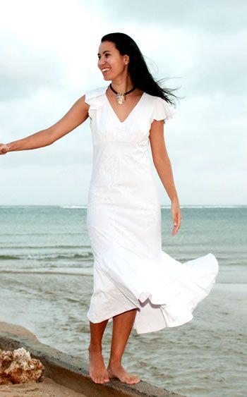Model Dresses Hawaii Beach Dress Wedding