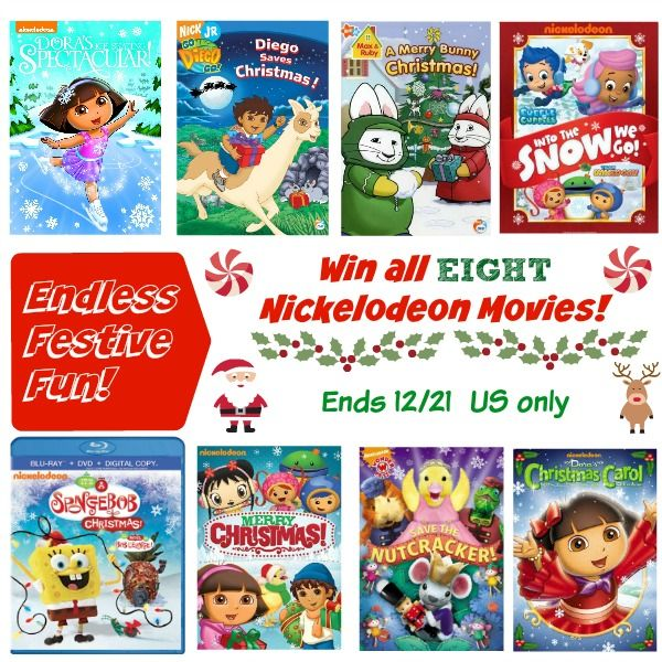 Win 8 Nickelodeon Christmas Dvds Ends 12 21 Us Only Nickelodeon Christmas Movies Kids Dvd