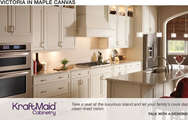 Kraftmaid Victoria Maple Canvas Kraftmaid Kitchens Kitchen Cabinet Styles Traditional Kitchen Cabinets