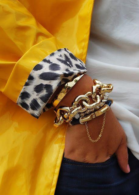 Pretty gold bracelets