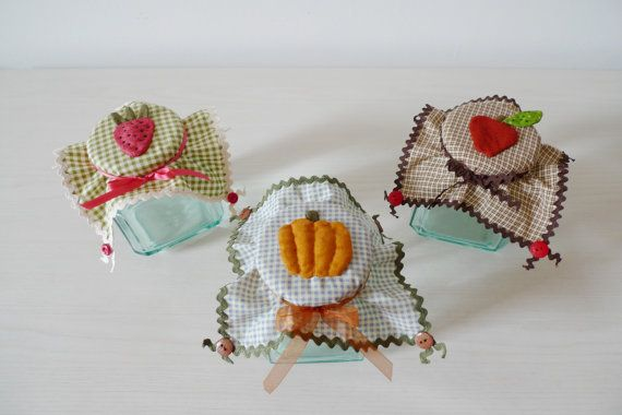 Granny\'s Preserves I canning jar covers PDF sewing pattern - mason ...
