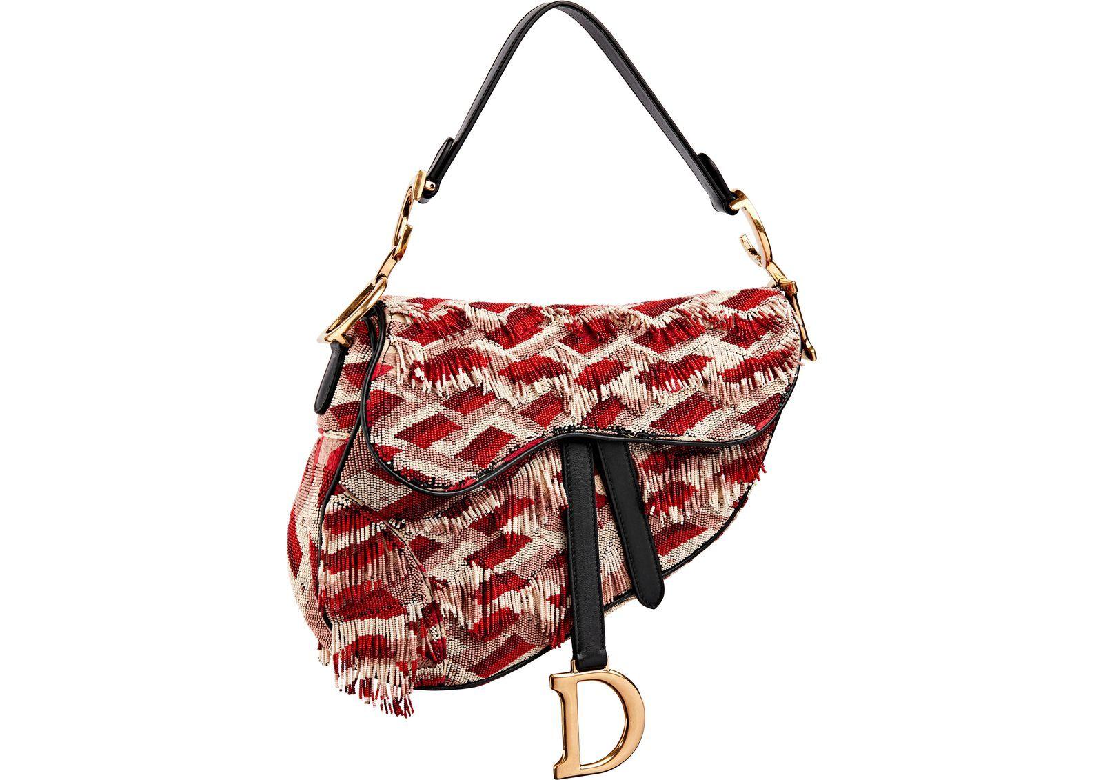Dior S Iconic Saddle Bag Is Officially Back Dior Saddle Bag Bags Embroidered Bag