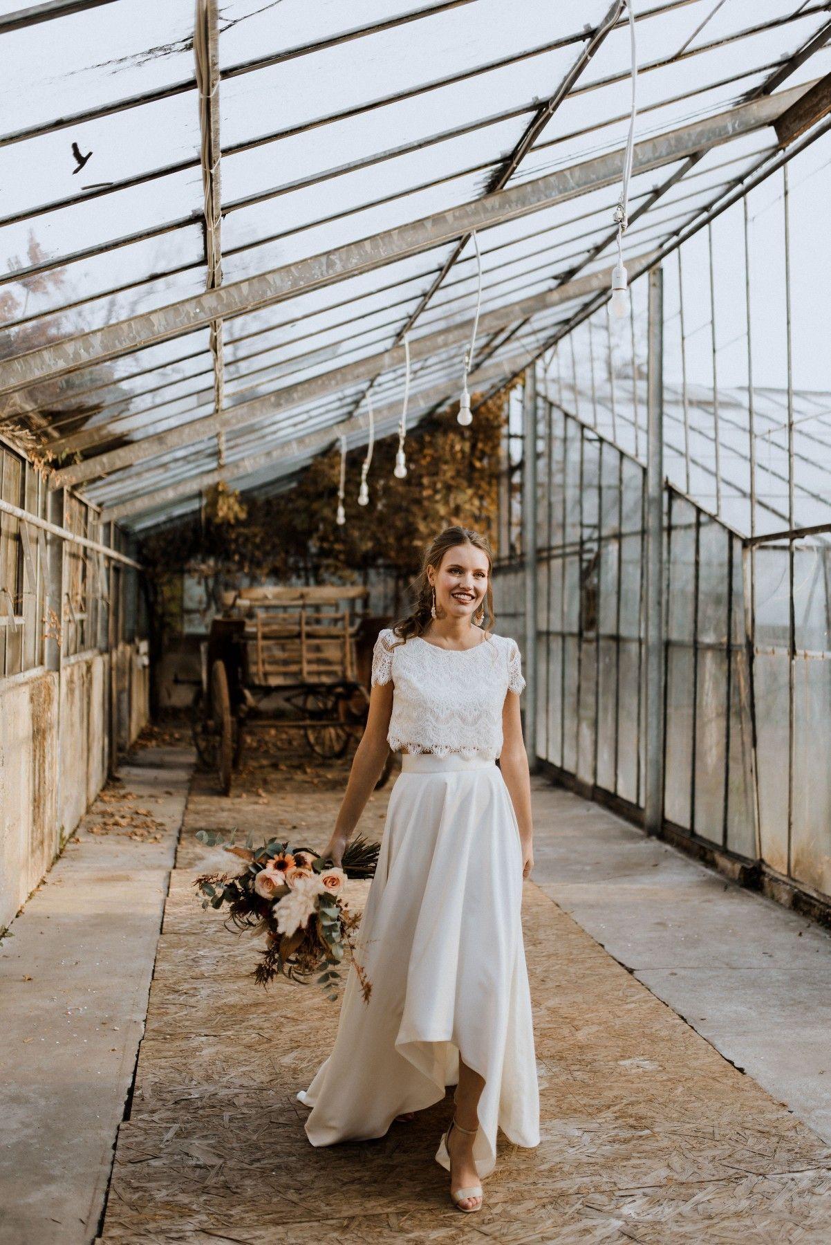 Labude Koeln – dos piezas para la novia Crop Top Zoey y falda de novia Rose  – Boda