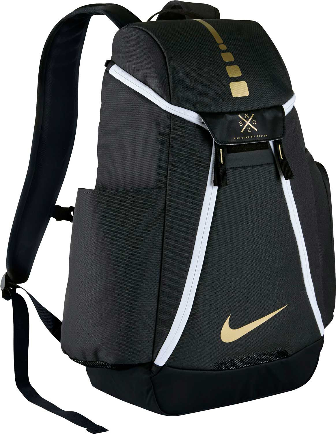 d3219265499 Nike Hoops Elite Max Air Team 2.0 Backpack, Grey/Black/Gold ...
