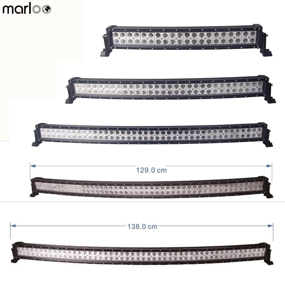 Car 12v 24v Led Lights 22 32 42 50 52 Inch Curved Led Light Bar 120w 180w 240w 288w 300w Combo Beam 4x4 Curved Led Light Bar Led Light Bar Truck Led Light Bars