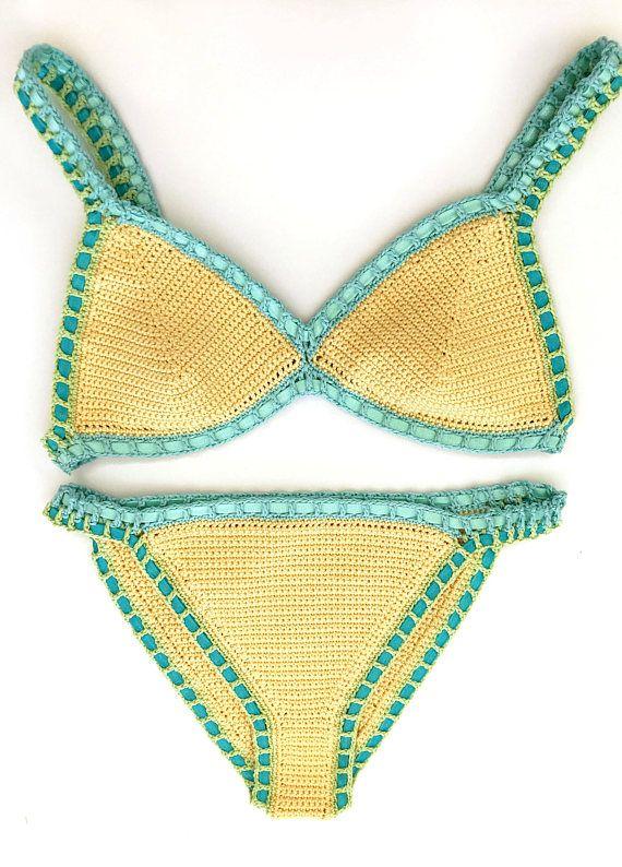 Crochet Bikini Pattern - Malibu Bikini Pattern - Easy Bikini Pattern - by Deborah O'Leary Patterns