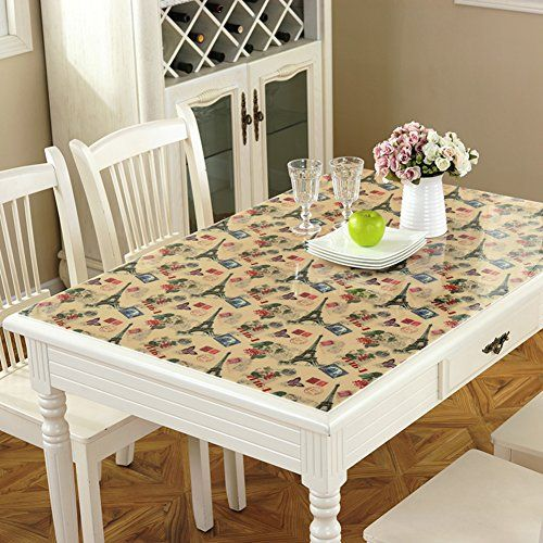 Pvc Tablecloth Coffee Table Mats Rectangular Round Waterproof Anti Hot  Plastic C 60x120cm(