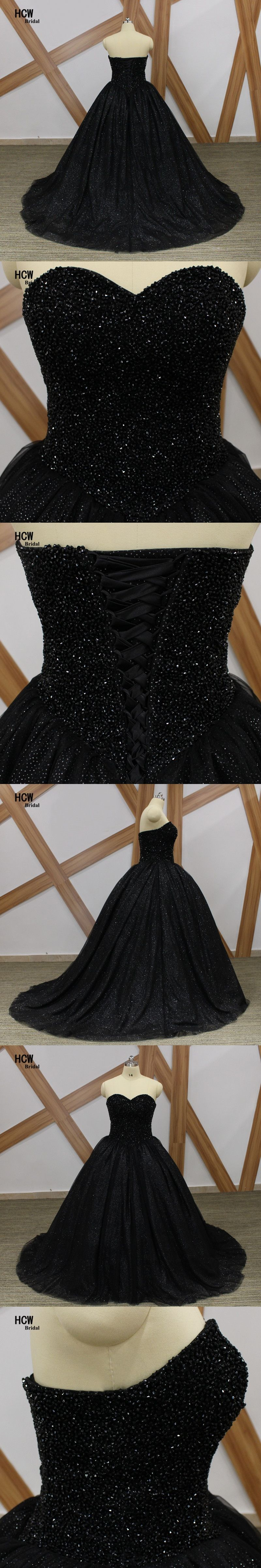 Bling black ball gown prom dresses strapless lace up back luxury