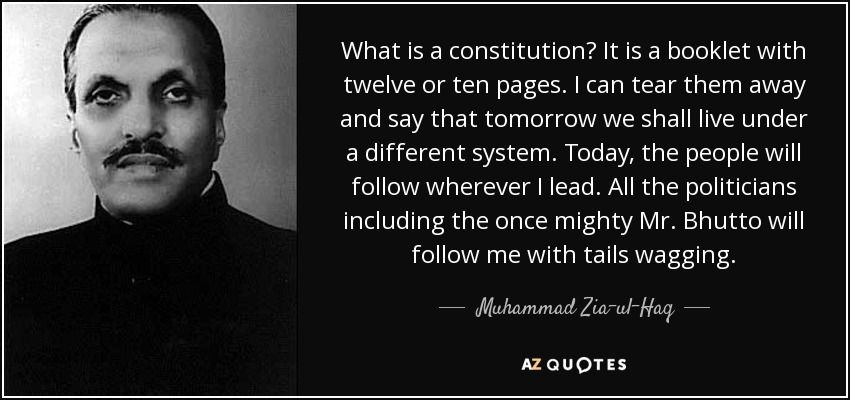 Muhammad Zia-ul-Haq, former President of Pakistan