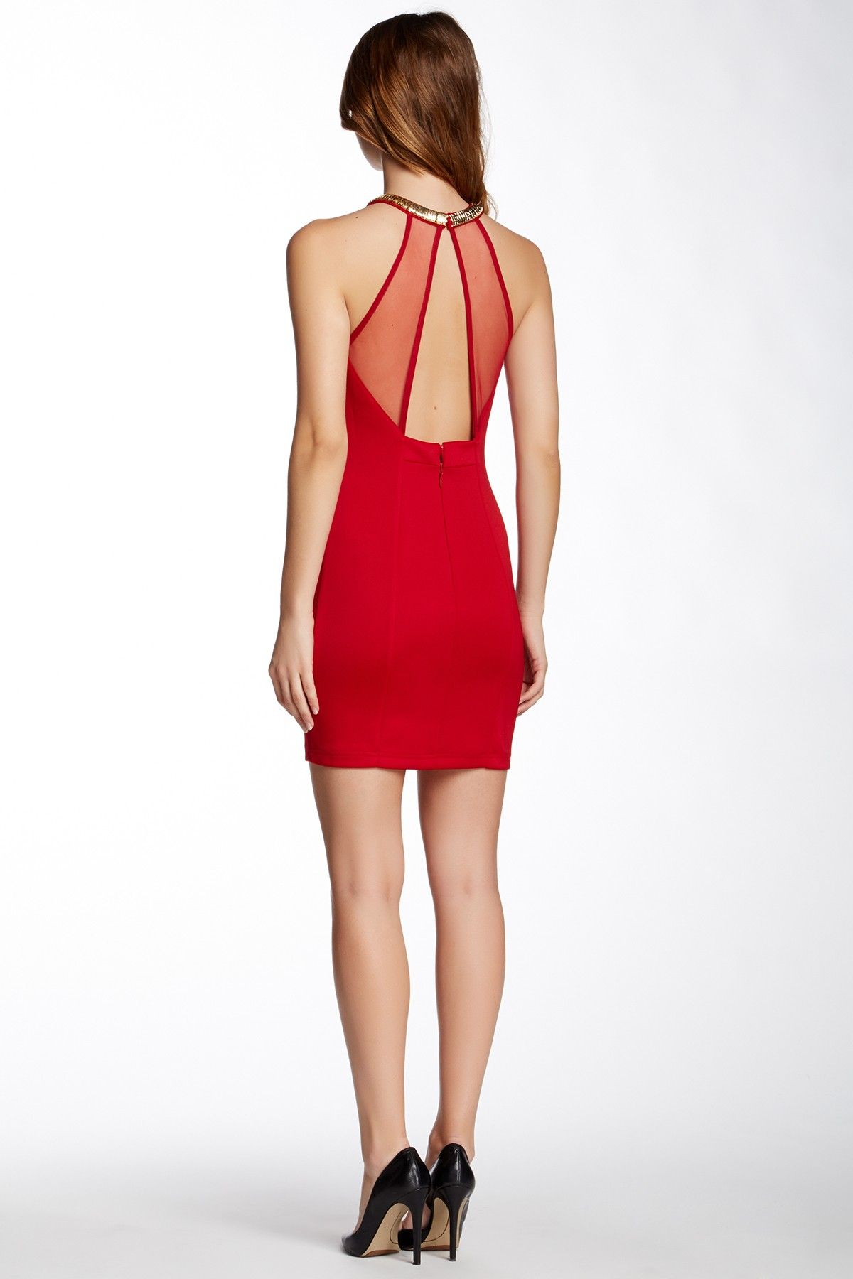 Wow couture embellished halter neck dress by wow couture beautiful