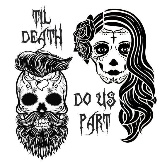 Sugar Skull SVG, day of the dead svg, Wedding Skul