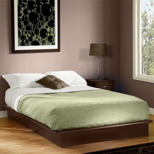 Queen Size Platform Bed Frame No Box Spring Needed Use W Mattress