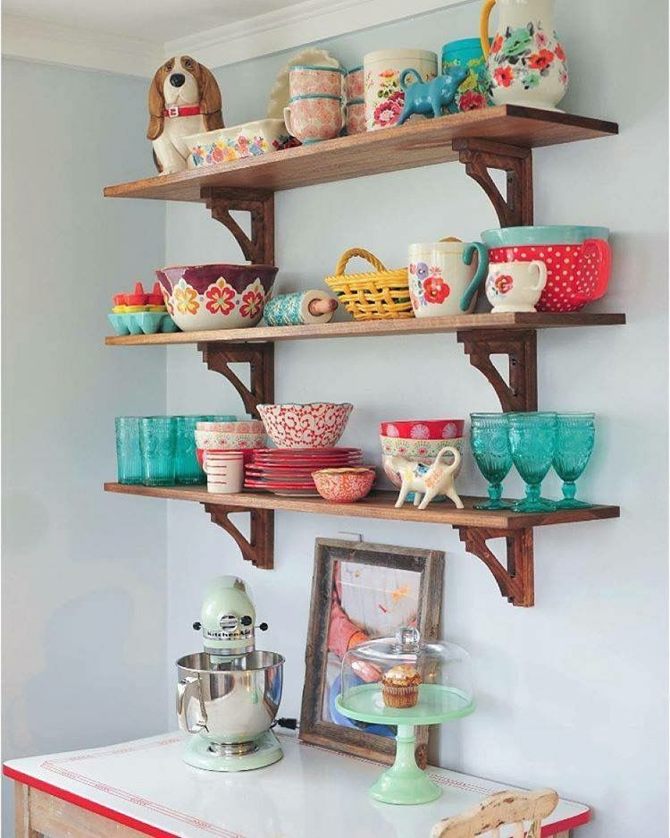 Kitchen Shelves Walmart: Pioneer Woman Dishes And Glassware