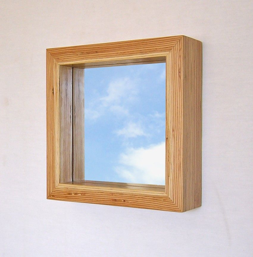 Modern Wood Framed Mirror 11 Inch Square Lvl Frame Wood Framed Mirror Wood Mirror Wooden Mirror Frame