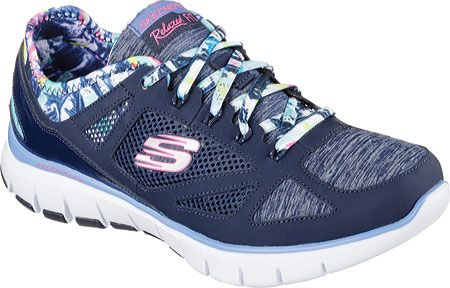 b19acf6232f Skechers Womens Relaxed Fit Skech Flex Tropical Vibe 12133-NVMT ...
