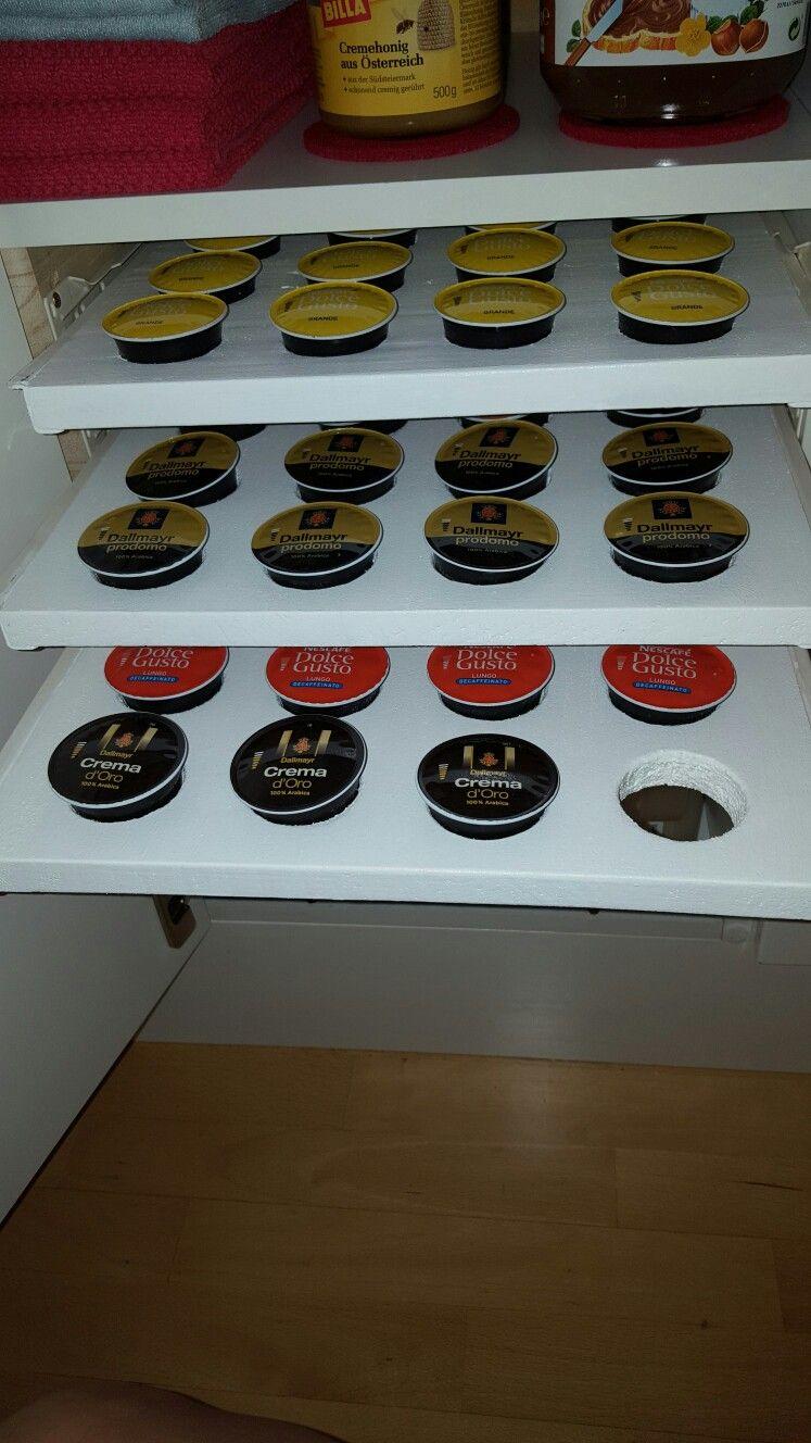 Küchenplan grundriss auszug für kaffeekapseln  küche  pinterest  kaffeekapseln auszug