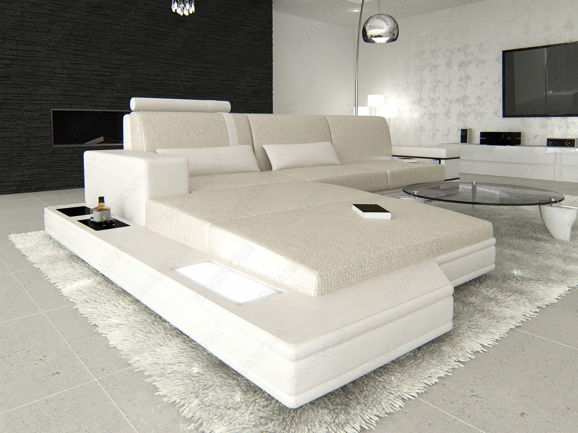 proxima - divano angolare a 3 posti con penisola, in tessuto ... - Marrone Elegante Divano Letto Ad Angolo