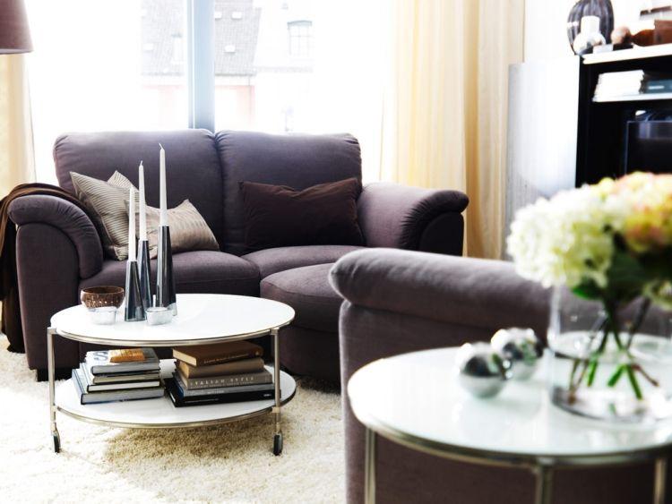 Ideen Für Das Kleine Wohnzimmer  Wohnideen  Aubergine Polster Couch Couchtisch